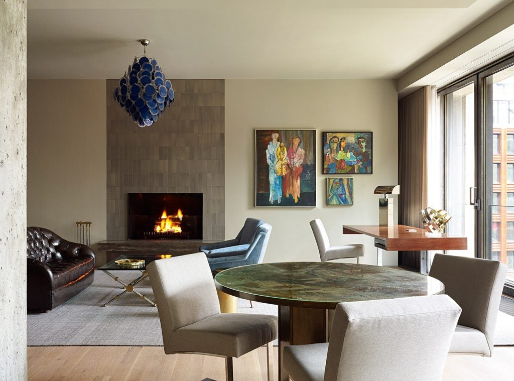 A Manhattan living room designed by Frampton Co.