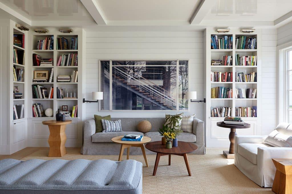 A living room in Bridgehampton, New York, designed by Frampton Co.