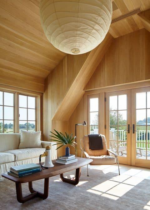 A home office in Bridgehampton, New York, designed by Frampton Co.