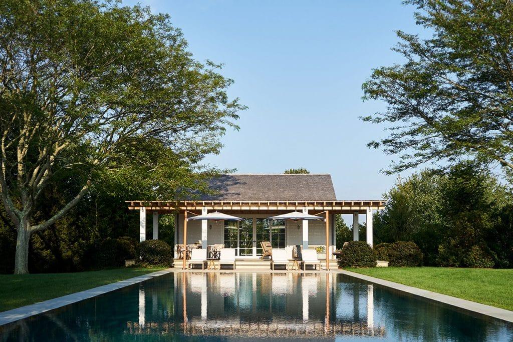 A Bridgehampton pool house designed by Frampton Co.