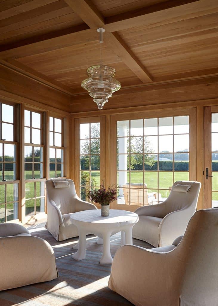 A Bridgehampton sunroom designed by Frampton Co.