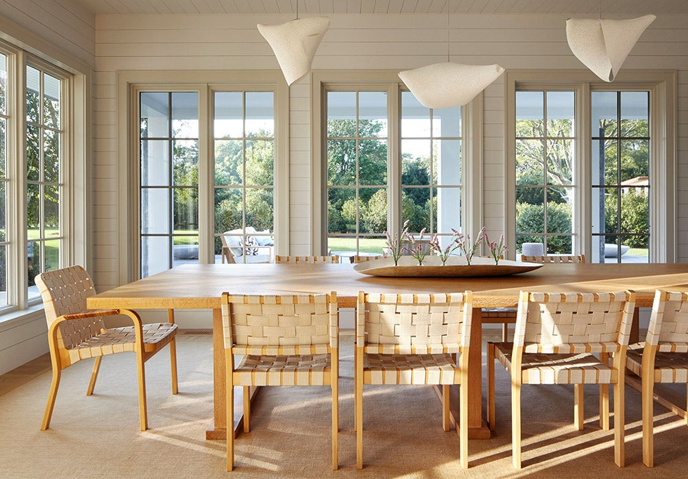 A Bridgehampton dining room designed by Frampton Co.