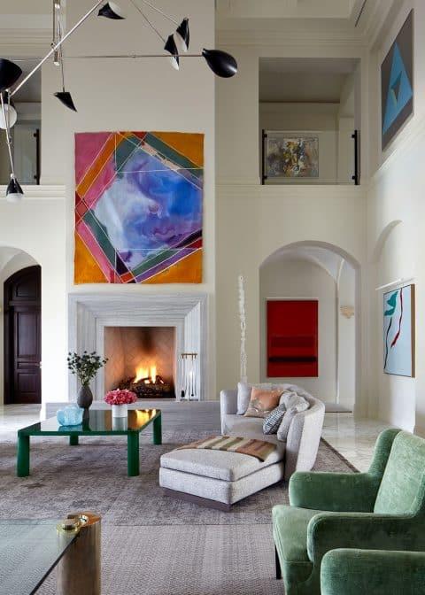 A living room in Jupiter, Florida, designed by Frampton Co.