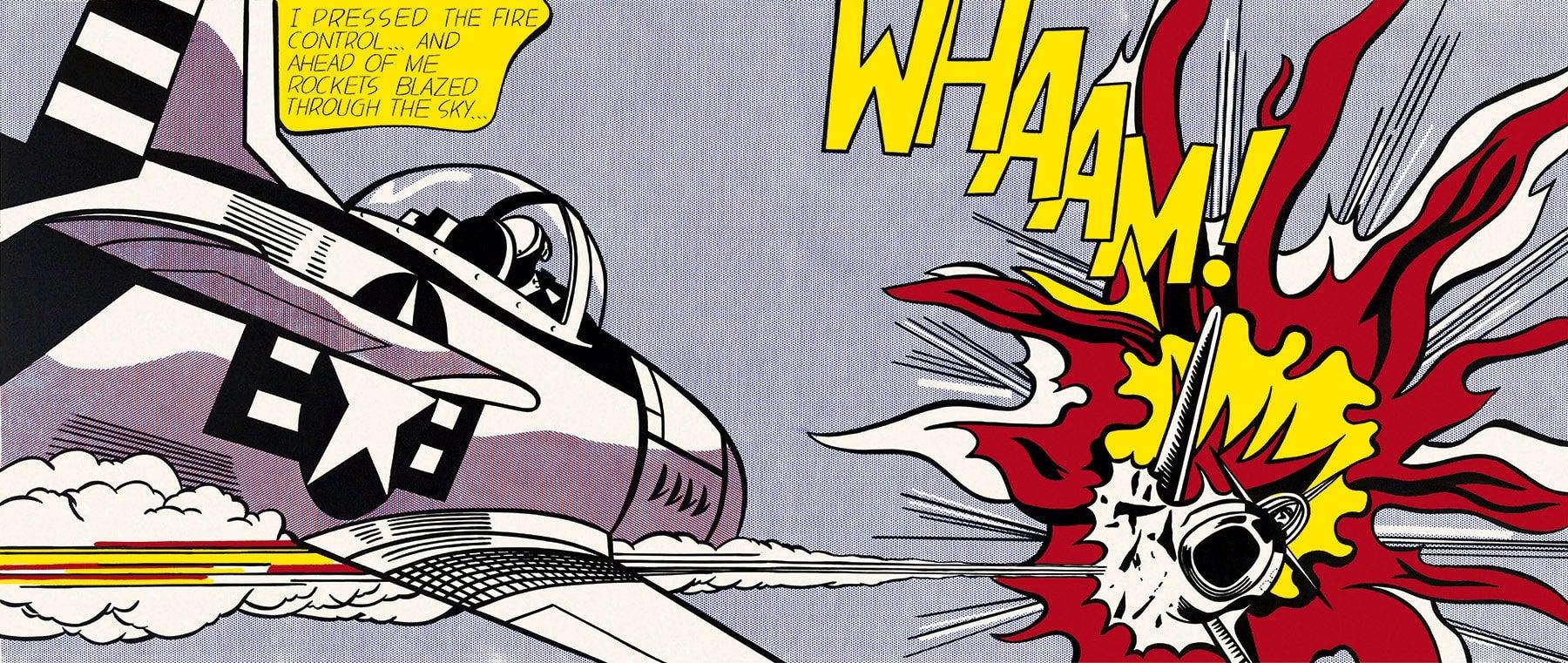 """Roy Lichtenstein """"Whaam"""" Painting"""