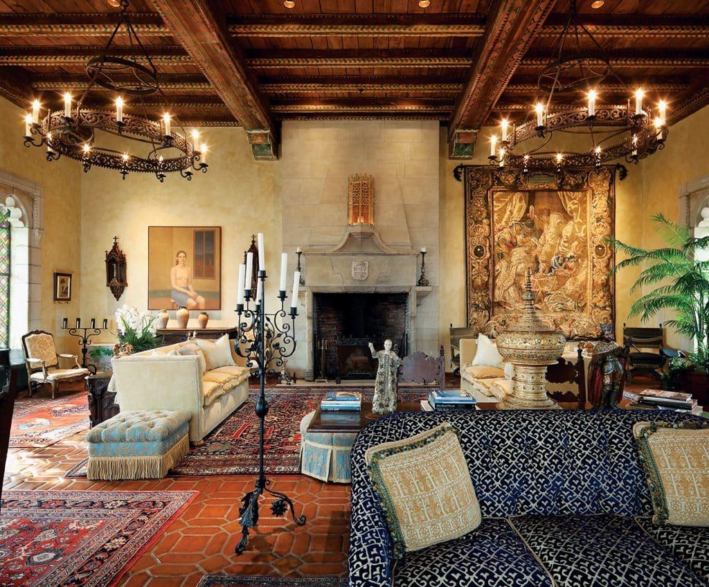 Living Room at Villa Mizner