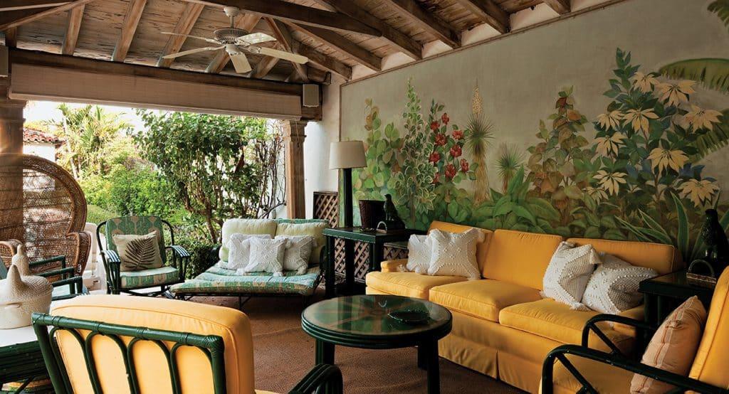 Outdoor Seating at Louwana, Designed by Mizner