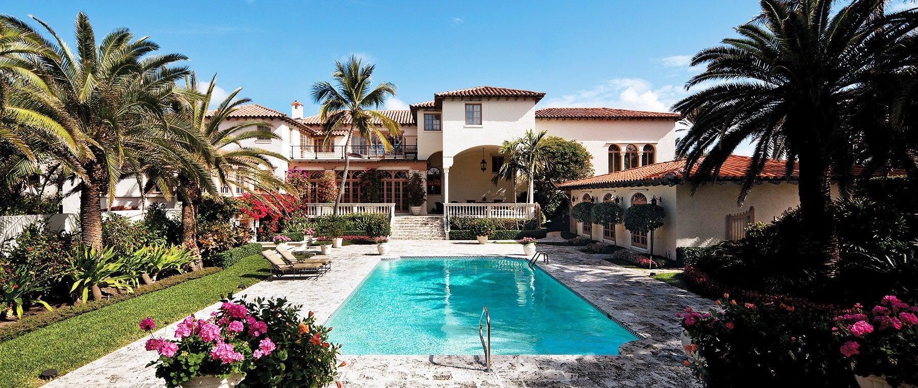 Pool and Garden of El Solano, Designed by Mizner