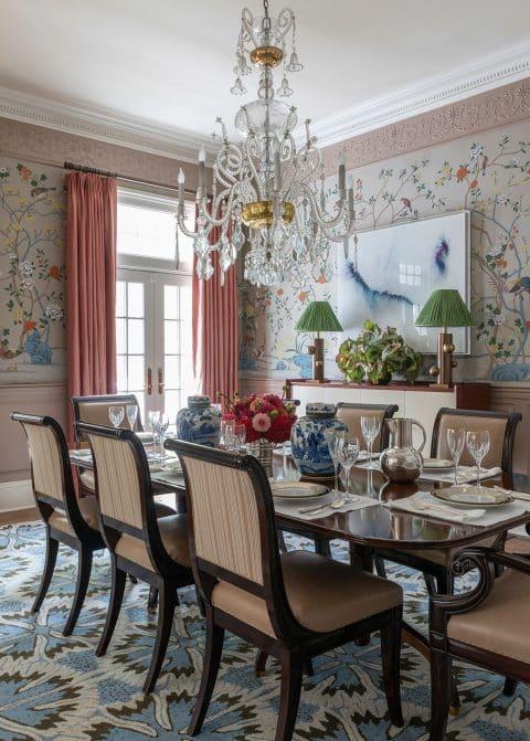 Bill Brockschmidt and Courtney Coleman Brockschmidt & Coleman Short Hills New Jersey dining room