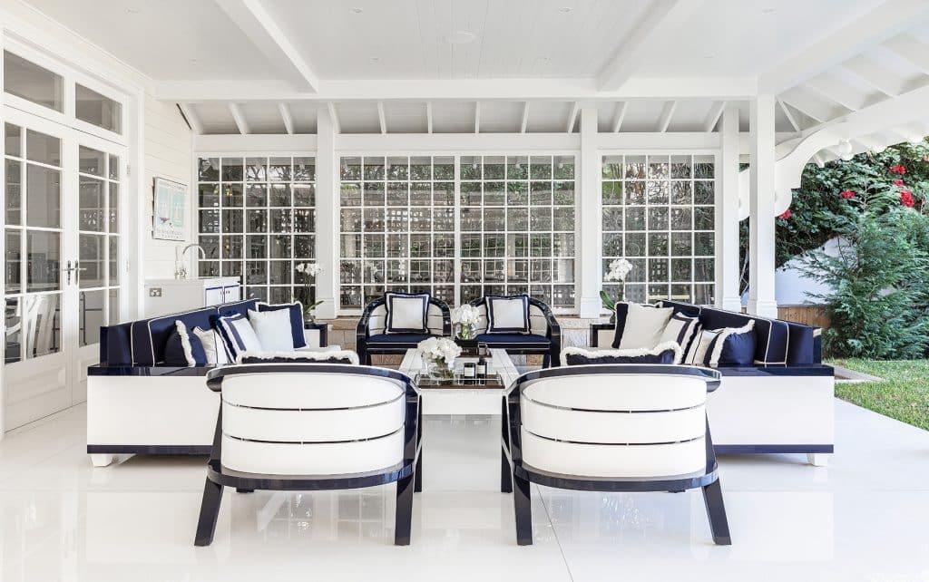 Australian architect interior designer Blainey North Palm Beach Florida House patio covered porch