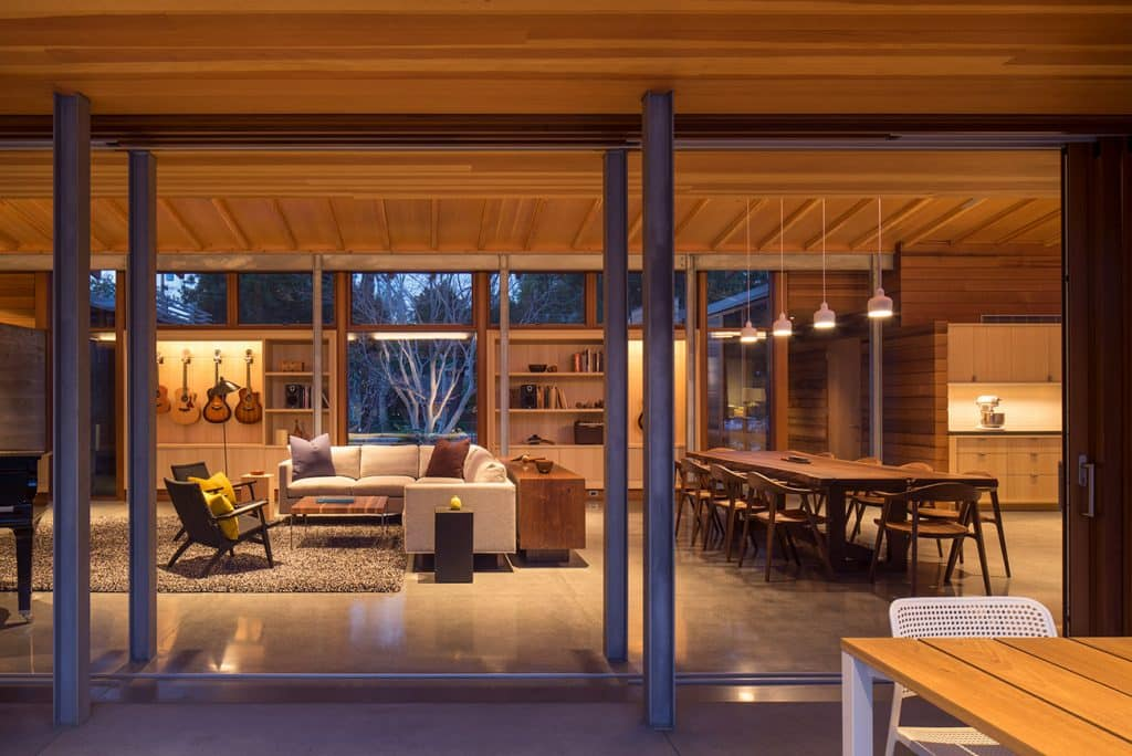 The Living Room of a home in Los Altos, California, designed by Peter Bohlin and BCJ