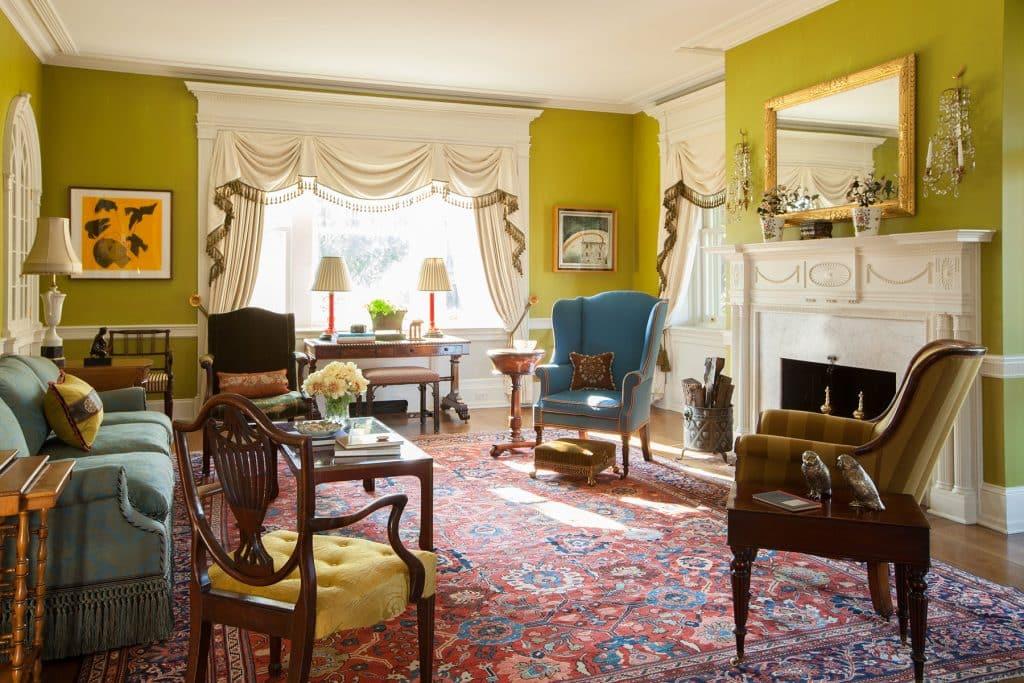 Bill Brockschmidt and Courtney Coleman Brockschmidt & Coleman Wilmington Delaware living room