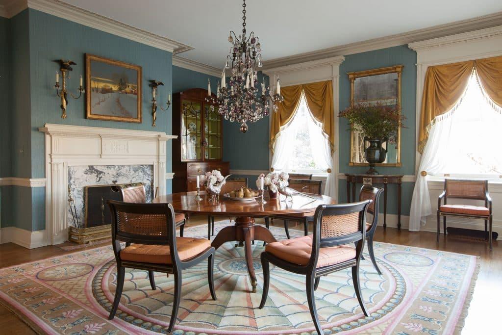 Bill Brockschmidt and Courtney Coleman Brockschmidt & Coleman Wilmington Delaware dining room