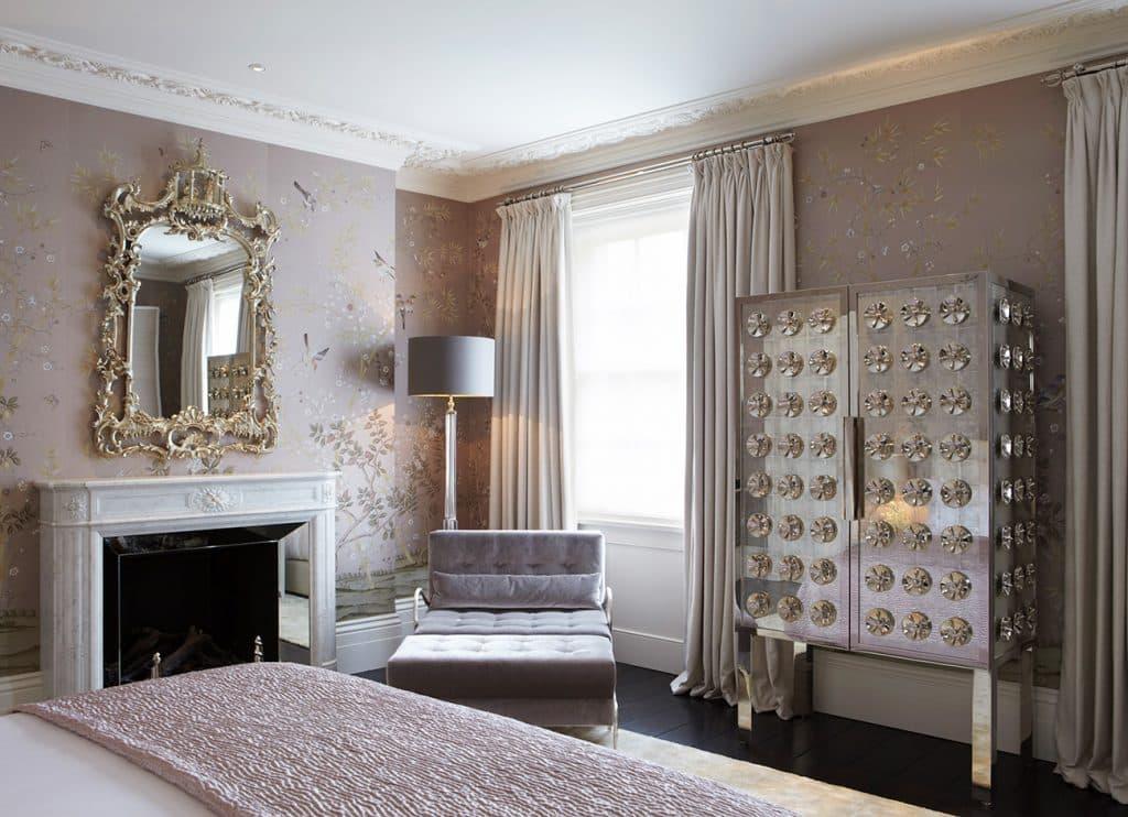 Master bedroom at the Knightsbridge Residence
