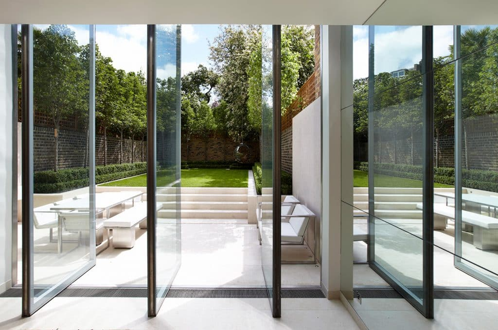Outdoor Seating and Backyard at a Knightsbridge Residence, Designed by Todhunter Earle
