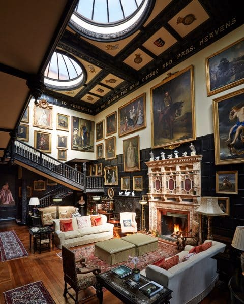 Living Room at Madresfield Court, Worcestershire, Designed by Emily Todhunter and Kate Earle
