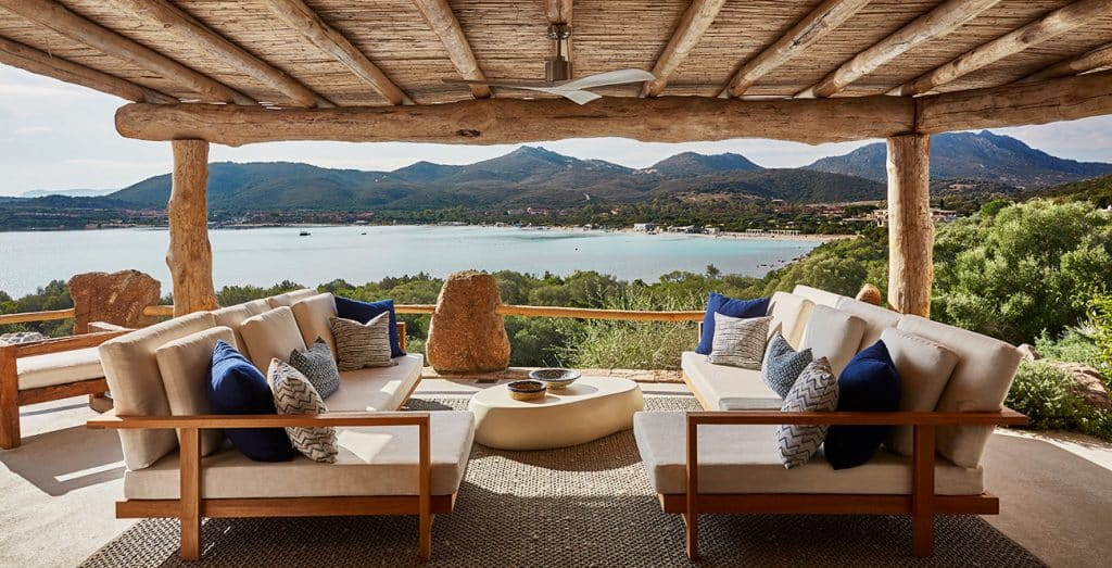 Outdoor Seating at a Seaside Residence in Sardinia, Designed by Todhunter Earle