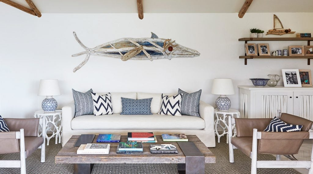 The sitting room in Sardinia