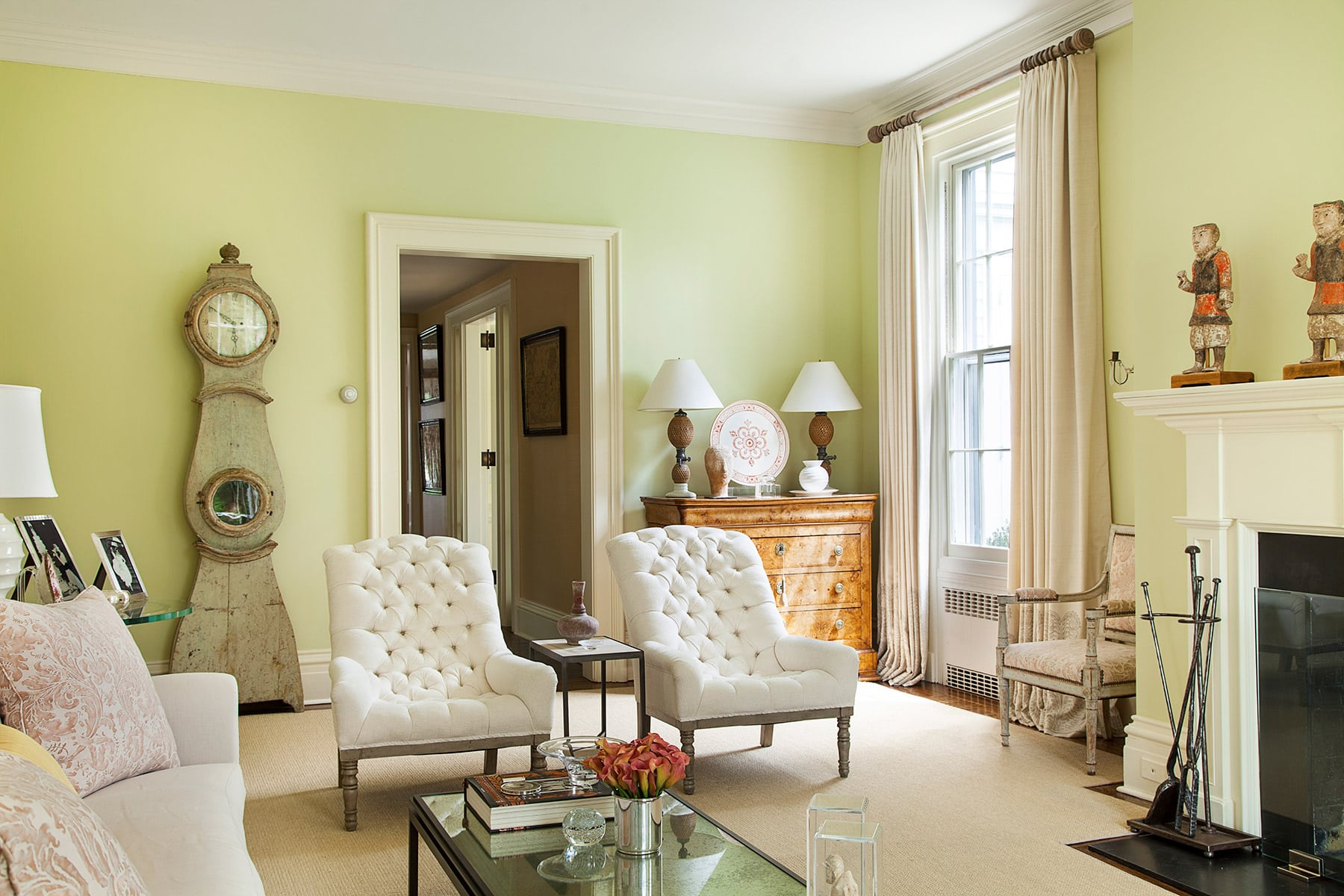 Charlotte Barnes Interiors Federal-Style House Sitting Room