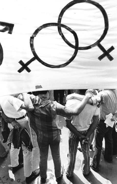Fred McDarrah at the First Gay Pride March