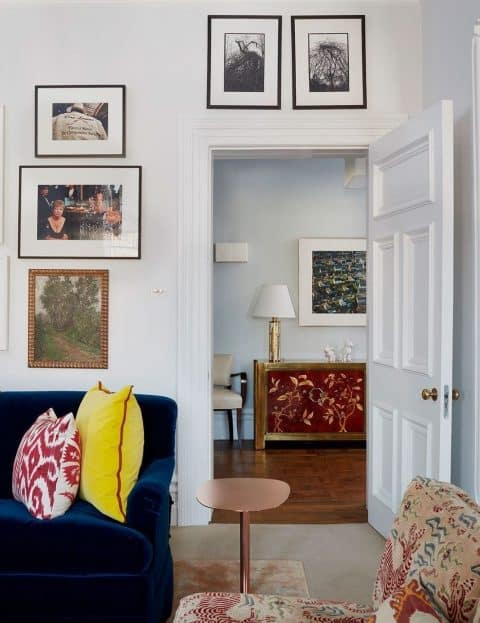 Fawn Galli Interiors Living Room and Foyer