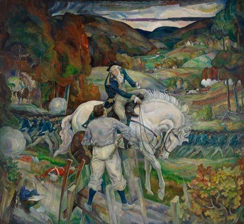N.C. Wyeth's In a Dream I Met George Washington