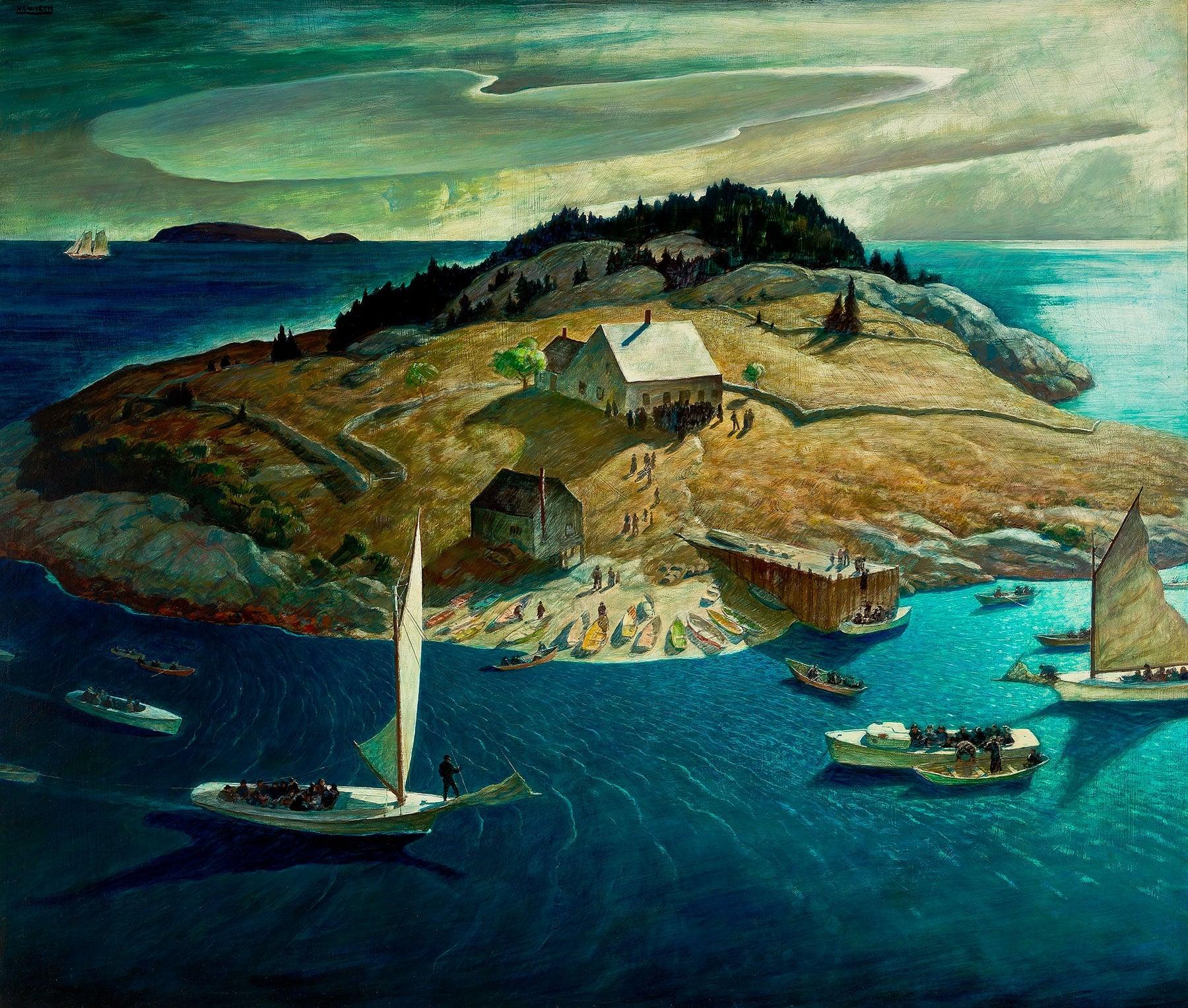 N.C. Wyeth's Island Funeral