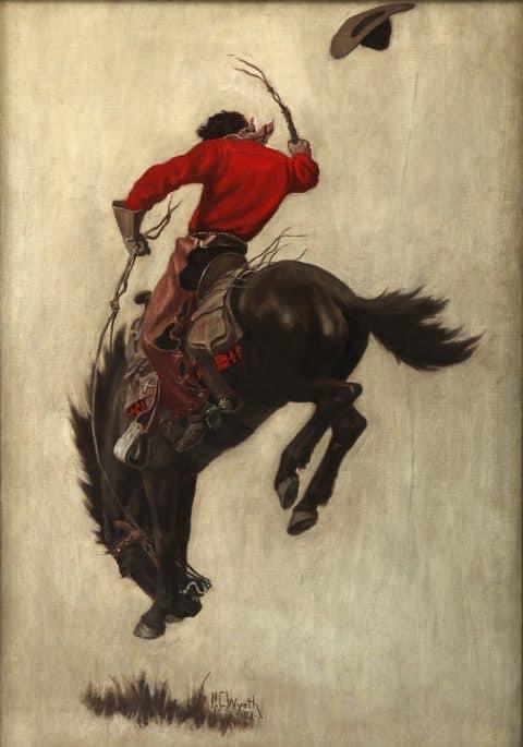 N.C. Wyeth's Bucking Bronco illustration