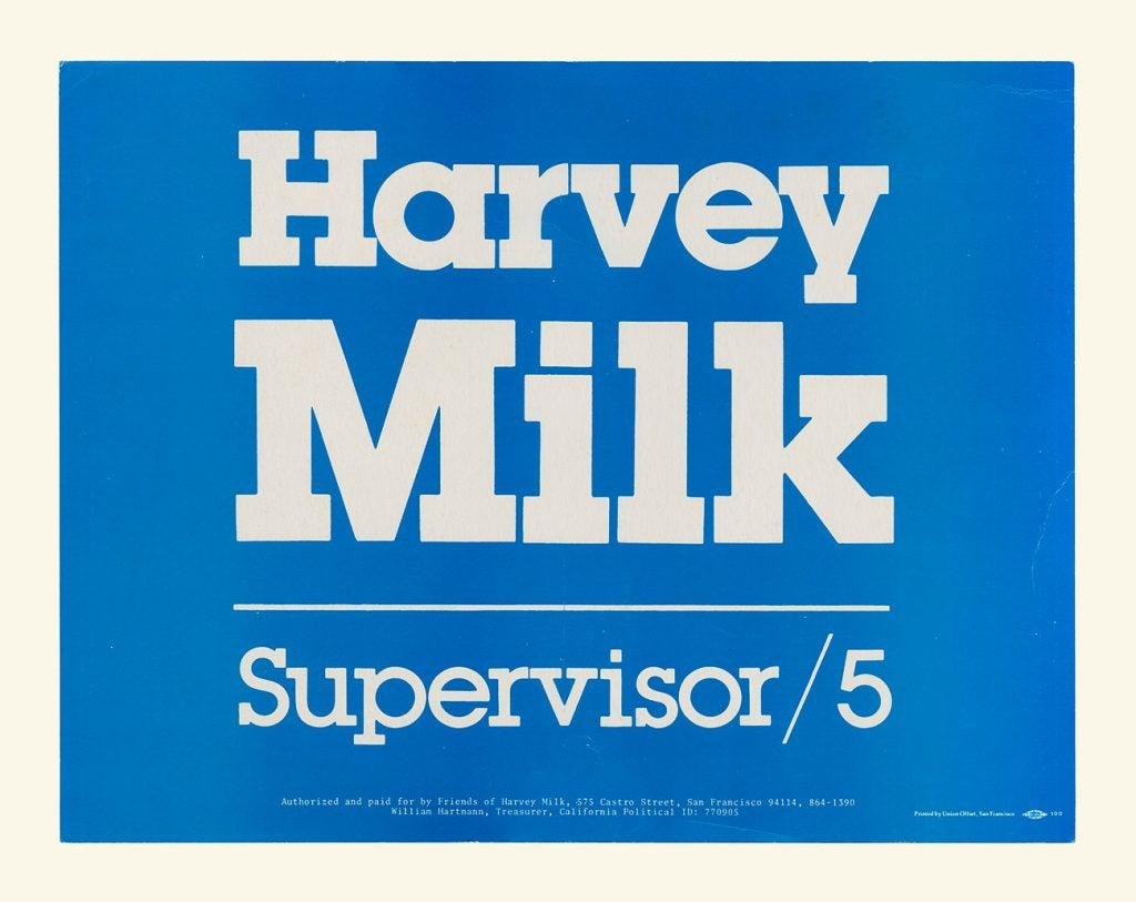Harvey Milk Campaign Poster
