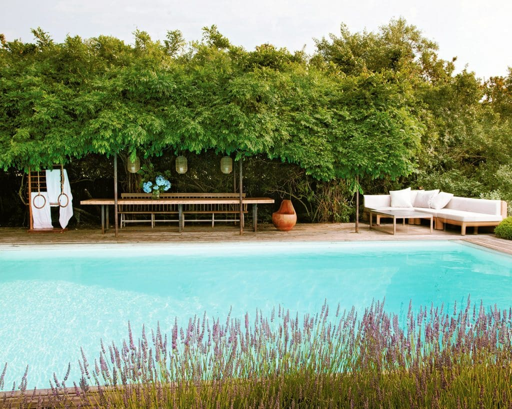 The pool at Michael Bruno's Southampton home, photographed by Tim Street-Porter.