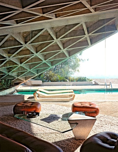 The pool at the Sheats-Goldstein house in Los Angeles, photographed by Tim Street-Porter.
