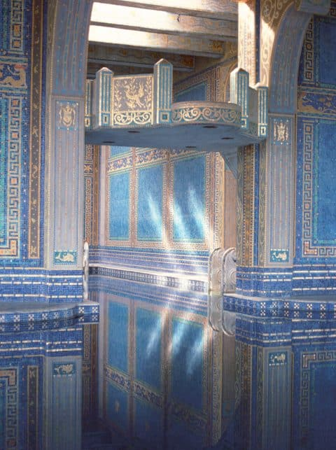 The Roman Pool at Hearst Castle, photographed by Tim Street-Porter.