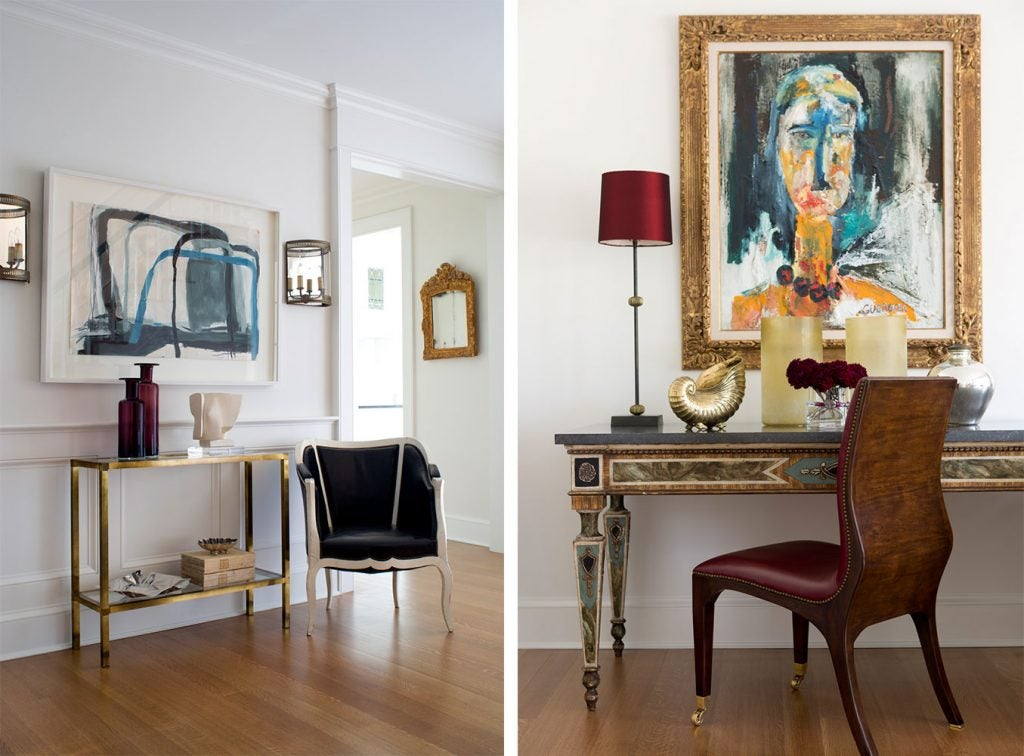 Charlotte Barnes Interiors Greenwich Residence Entry and Study