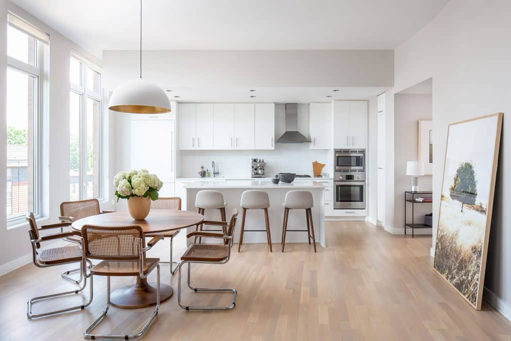 Kitchen of the MDD Designed D.C. apartment