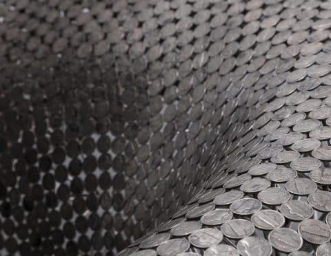 Detail of the nickel couch