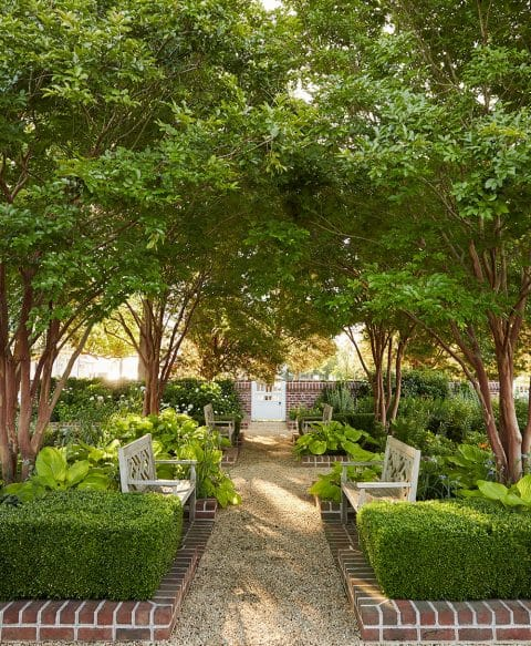 Walled garden at the Maryland Property