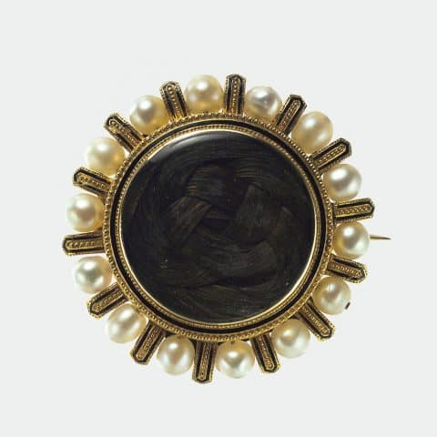 An 1878 mourning brooch, by Tiffany and Co.