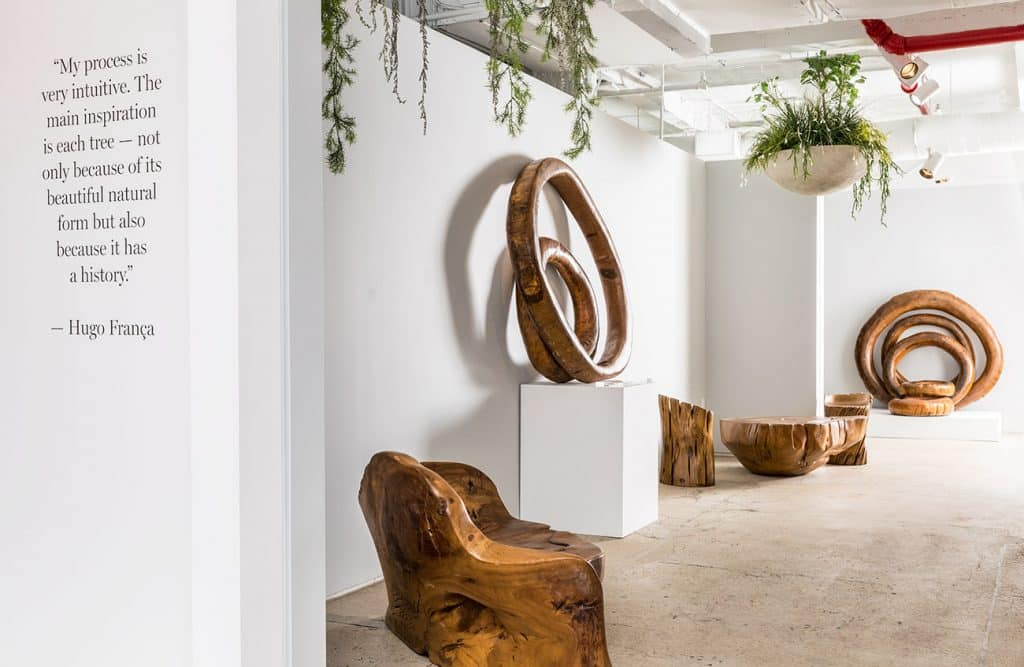 Hugo França furniture in an exhibition by furniture dealer Equinocial at The 1stdibs Gallery
