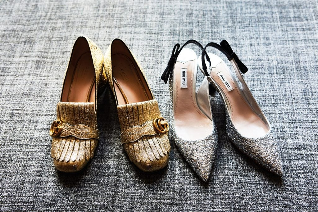 Gold Gucci Loafers, Owned by Amanda Benchley
