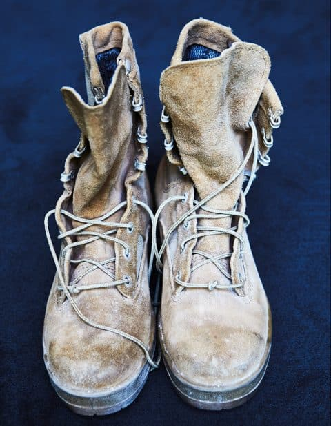 Senator Tammy Duckworth's combat boots from her time in Iraq