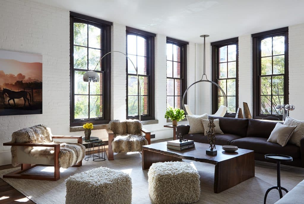 A living room in Tribeca, designed by Marie-Christine McNally