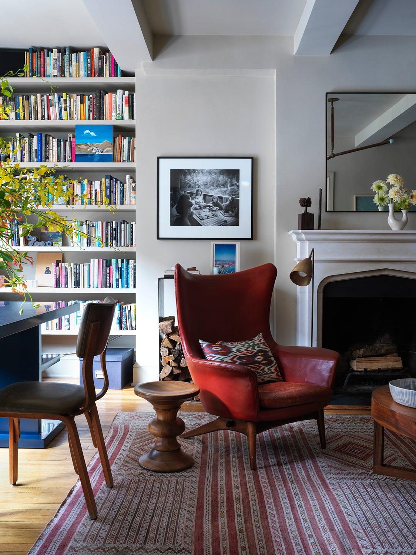 Heide Hendricks used an antique Turkish rug in an apartment in New York's Greenwich Village